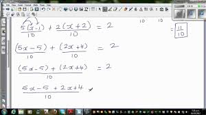 equation with variables on both sides fractions khan solving inequalities with fractions