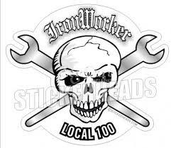 ironworker stickers. ironworker skull #2 - union sticker ironworker stickers