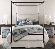Full Size Wood Canopy Bed   Pottery Barn