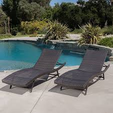 eliana outdoor brown wicker chaise