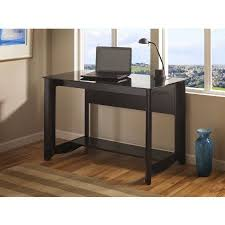 home office black desk. bush my space aero collection classic black glass top desk complete your home office with minimal flair and modern simplicity