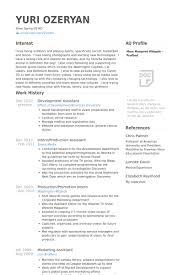 development assistant resume samples sample marketing assistant resume