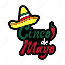 Cinco De Mayo Sticker. Handwritten ...