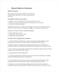 cv objectives statement job objectives for resume examples image tomyumtumweb com