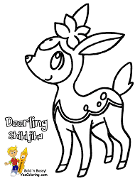 Small Picture pokemon sawsbuck Colouring Pages page 2 with Pokemon Deerling
