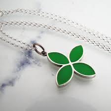 pandora silver enamel flower pendant