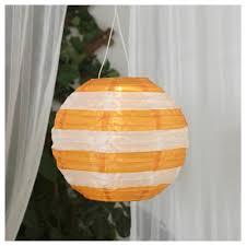 Solvinden Led Plafondlamp Op Zonnecellen Buiten Globe Gestreept Geel