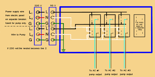 multiple ac unit wiring 230 Volt Wiring Diagram the wire we supply for the connection to the pump relay box from each unit is 18 tinned stranded wire(agw 20 or 22 is ok for short runs of less than 20 230 volt wiring diagram for a quad breaker