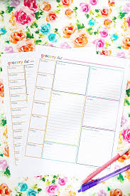 Grocery Checklist Free Printable Grocery List And Meal Planner Abby Lawson