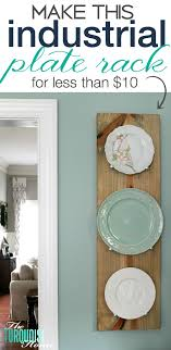 make this diy industrial plate rack for less than 10 tutorial at theturquoisehome