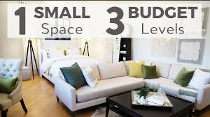Budget Design Interiors Small Space Design One Room Makeover On Three Different Budgets Room Transformation