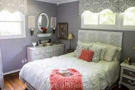 coral bedroom. gray and coral bedroom makeover - marty\u0027s musings