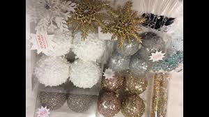 hobby lobby gold silver rosegold teal holiday ornament haul