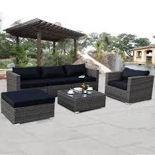 wicker patio furniture. Fine Patio 6 Piece Wicker Patio Furniture To C