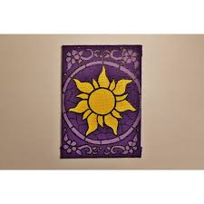 tangled sun icon stained glass mini canvas original liked on polyvore featuring home home