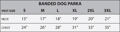 Neoprene Dog Vest Size Chart Details About New Banded Gear Sporting Dog 3mm Neoprene Parka Hunting Vest Max 4 Camo 3xl