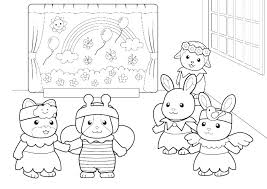 Family Coloring Page 4 Pages Free Printable Colouring For Toddlers