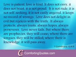 Religious Quotes About Love Awesome Inspirational Religious Love Quote From The Bible ComfortingQuotes