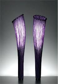 elegant purple floor lamp or contemporary floor lamp from aqua creations model morning glory collection small new purple floor lamp