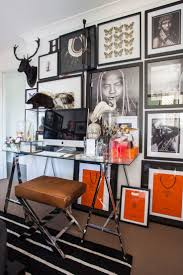 home office dark blue gallery wall. A Great Gallery Wall With Framed Hermes Shopping Bags Office. 6 Inspiring Home Office Design Tips Dark Blue T