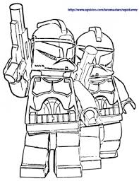 Small Picture The White Stormtroopers In Lego Star Wars Free Coloring Sheets