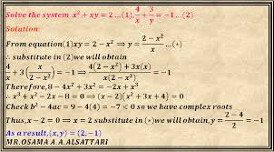 system of equations with two variables docsity