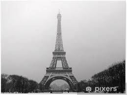 Plakát Eiffelova Věž Pod Sněhem