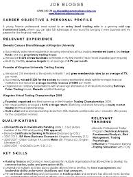 97 Proprietary Trading Resume Sample Help With Resume