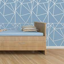 geometric allover wall stencil