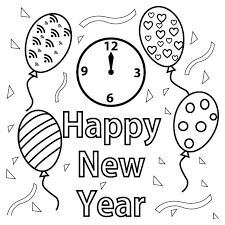 Chinese new year coloring page with few details for kids. Free Happy New Year Colouring Pages For Kids
