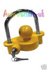 ball hitch lock. coupling lock tow ball hitch caravan horse box trailer d