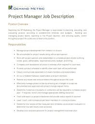 Project Manager Cover Letter Doc Cv And Job Description Shrm Hiring