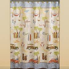 Gone Surfing Fabric Shower Curtain Bed Bath & Beyond