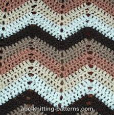 Double Crochet Chevron Pattern New ABC Knitting Patterns Ripple Afghan