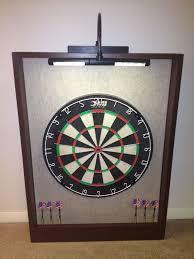 led lighted dartboard backboard cabinet dmi bristle dart board sandstone brown