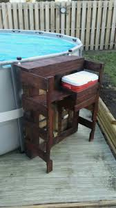 pool bar furniture. pallet bar with cooler above ground pool furniture o