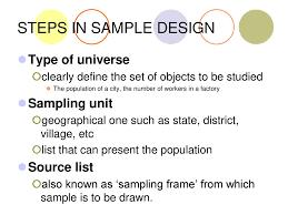 Types Of Sampling Design Research Design Sampling Generalizability Ppt Download