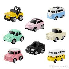 2019 Car Styling Color Kids Cars Toy Pull Back Model Car Birthday ...