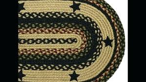 braided jute rug area rugs and pads country oval red woven navy blue black rectangular