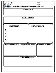 Scientific Method Worksheet By Yellow Goose Lane | Tpt