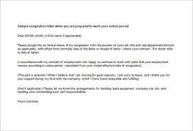 Management Resignation Letter Professional Resignation Letter Effective Immediately Sample