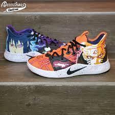 Custom Naruto x Sasuke Nike PG 3 Shoes: Naruto