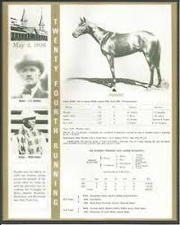 Details About 1898 Plaudit Kentucky Derby Winner Race Chart Jockey Owner