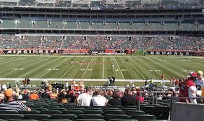 Paul Brown Stadium Section 110 Row 30 Seat 4 Cincinnati