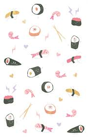 cute sushi wallpaper. Simple Cute Sushi Illustration And Cute Sushi Wallpaper A