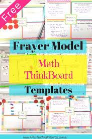 Frayer Frames How To Make Kids Feel Smarter With Frayer Model Think Boards