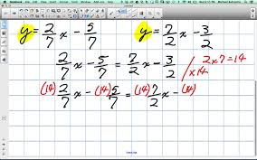 point of intersection using linear systems with fractions grade 10 academic lesson 1 5 10 1 14