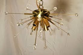 set of moderne sputnik flush mount fixtures