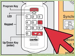 how to reset and program genie wireless keypad remote pin 7 steps rh wikihow com genie