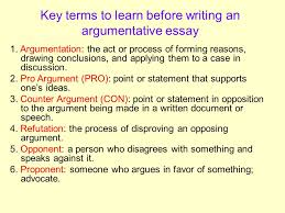 the argumentative essay what exactly is an argument an argument  key terms to learn before writing an argumentative essay 1